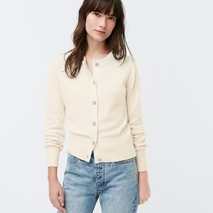J. Crew Cashmere cardigan with jeweled buttons